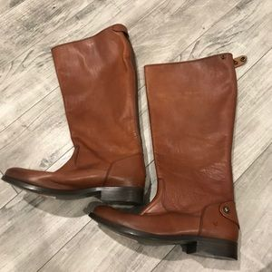 Frye Melissa Boot Leather Button Back Zip